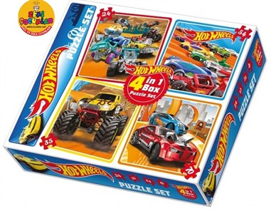 Hot Wheels Puzzle Set 4in1 Box 24-35-54-70 Parça